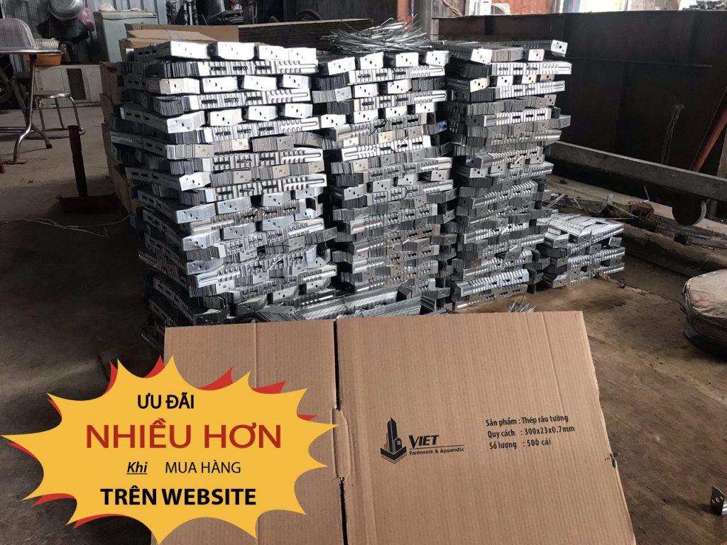 Sản phẩm thép râu neo tường tại công xưởng Cốp Pha Việt