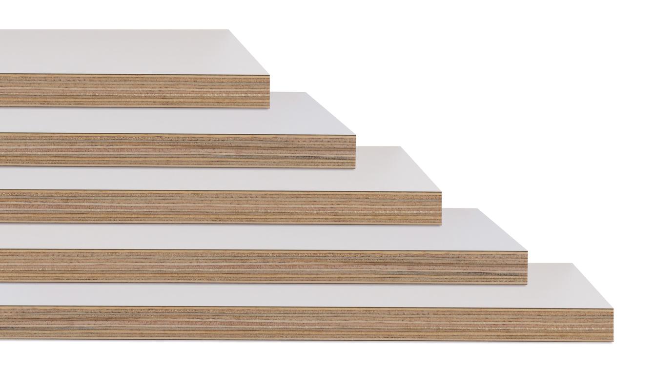 Ván phủ phim Tekcom có nhiều loại và chúng có cấu tạo chung là được nhiều lớp gỗ ghép lại với nhau